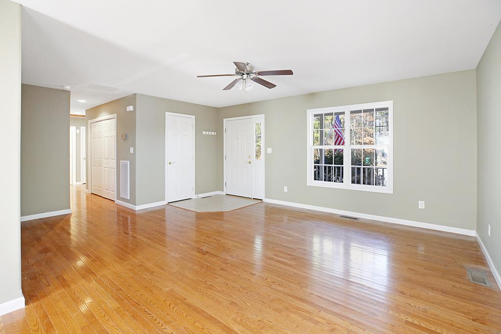 Gleaming Hardwood Floors....