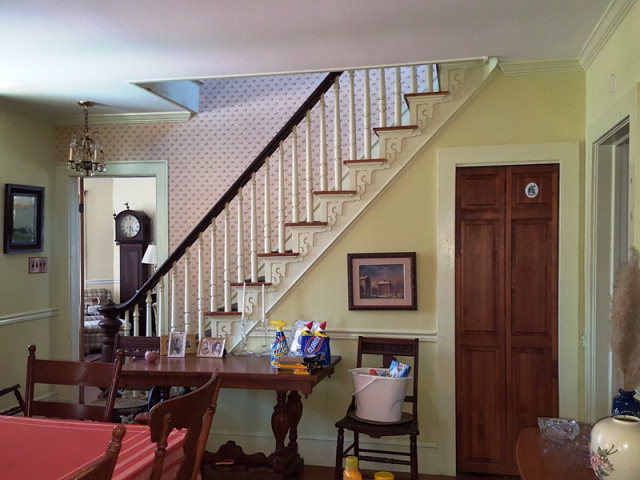 dining room/ front stairway