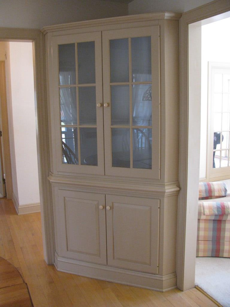 Close up of built-in cupboard