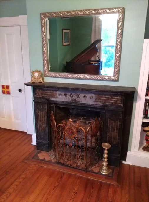 Working fireplace in second parlor